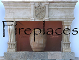 Antique and new stone Fireplaces