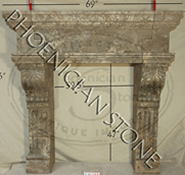 The 'Camina Capezzana' Fireplace Mantle