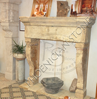 The 'Camina Di Rotolla' Fireplace Mantle
